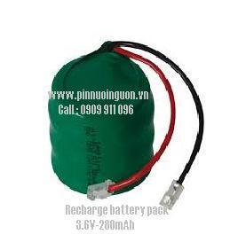 Pin sạc NI MH/ NI CD -  3.6V/280mAh, nuôi nguồn PLC/CNC