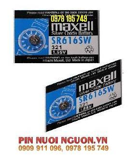 SR616SW/321: Pin Maxell silver oxide SR616SW-1.55V (HSX: MAXELL-NHẬT)