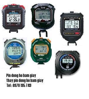 Pin đồng hồ Stopwatch Casio, Q&Q, Thay Pin đồng hồ Stopwatch Casio, Q&Q