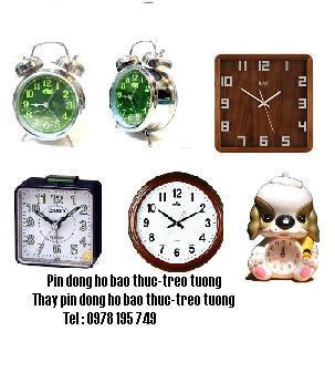 Pin đồng hồ báo thức các loại, Thay Pin đồng hồ báo thức các loại