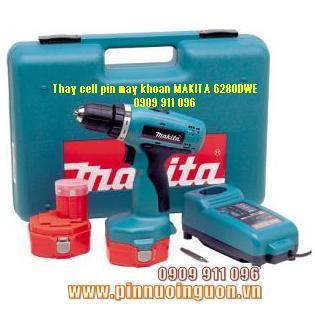 Pin máy khoan Makita 6280DWE-14.4V, Thay Pin máy khoan Makita 6280DWE-14.4V