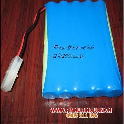 Pin xe điều khiển từ xa 12V 2000mAh, Pin sạc xe đồ chơi điều khiển từ xa 12V 1200mAh, Pin sạc xe mô hình 12V 1200mAh