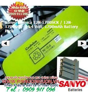 Sanyo Cadnica 12N-1700SCK / 12N-1700SCR- 14.4 Volt, 1700mAh Battery Pack | hàng có sẳn