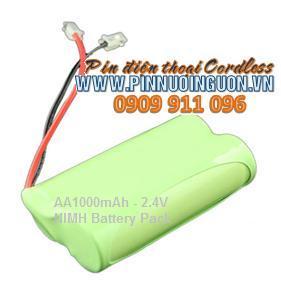 Pin điện thoại bàn không dây 2,4v NIMH AA1000mAh chính hãng hàng có sẳn-Bảo hành sử dụng 9 tháng