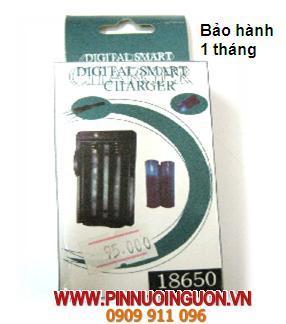 Máy sạc Pin Lithium Li-IOn 18650 Digital Smart Charger - sạc được 2 viên pin Li-Ion 18650 / hết hàng