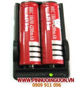 Bộ sạc pin Lithium LI-ION kèm sẳn 2 pin Ultrafire18650-4200mAh-3.7V / hết hàng