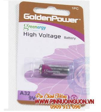 Pin Remote cửa, Pin 9V Golden Power A32 Greenergy High Voltage Alkaline chính hãng| tạm hết hàng