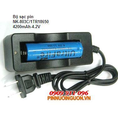 Bộ sạc pin Li-Ion 18650 NNK-803C/1ULTRA18650-4200-3.7V chính hãng |  tạm hết hàng