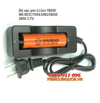 Bộ sạc pin Li-Ion 18650 NK-803C/1WASING18650-2800mAh-3.7V | tạm hết hàng