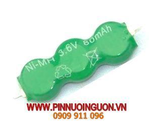 Pin sạc NIMH 3.6V-80mAh | hàng có sẳn