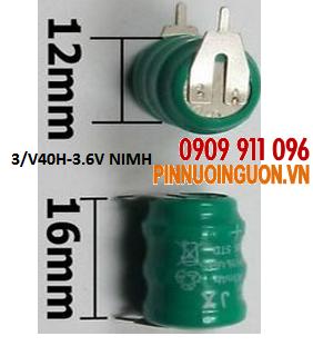 Pin sạc 3/V40H - NIMH 3.6V có bấm chân, Rechargeable NIMH battery | hàng có sẳn