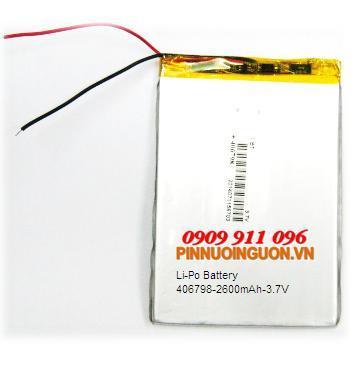 Pin Sạc Li-Polymer 406798  (4.0mmx67mmx98mm) - 3.7V dùng thay pin máy tính bảng | TẠM HẾT HÀNG