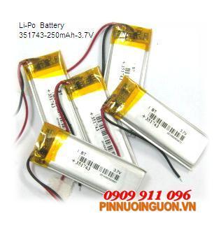Pin sạc Li-Polymer 351743 - 3.7V | hàng có sẳn