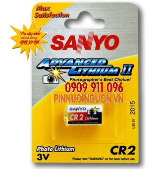 Pin 3V Lithium Sanyo CR2 Photo chính hãng Sanyo Nhật | tạm hết hàng
