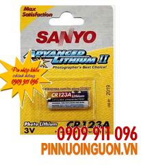 Pin 3V Lithium Sanyo CR123A Photo chính hãng Sanyo Nhật  | tạm hết hàng