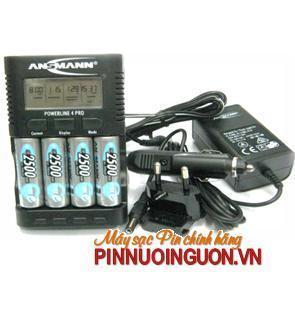 Sạc pin AA,AAA Ansmann 4 Pro - kèm sẳn 4 pin sạc Ansmann AA2500mAh và có chức năng Pin sạc dự phòng 10,000mAh