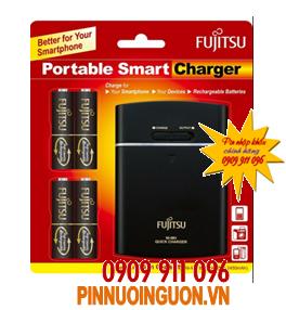 Sạc pin Fujitsu FSC341EX-B(CL) kèm sẳn 4 pin sạc Fujitsu AA2450mAh và có chức năng Pin sạc dự phòng 9,800mAh