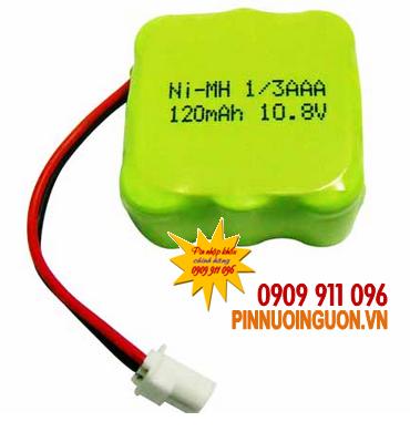 Pin sạc 10,8V-1/3AAA120mAh, (1/3AAAx9cells)Pin sạc công nghiệp NIMH-NICD 10,8V-1/3AAA120mAh chính hãng