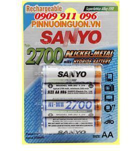 Pin nuôi nguồn AA sạc Sanyo HR-3U-4BP | 2700mAh-1.2V| chính hãng | hàng có sẳn