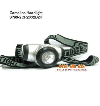 Đèn pin đội đầu - đọc sách mini Camelion S799-2CR2032D24 bóng LED  chính hãng | Hàng có sẳn