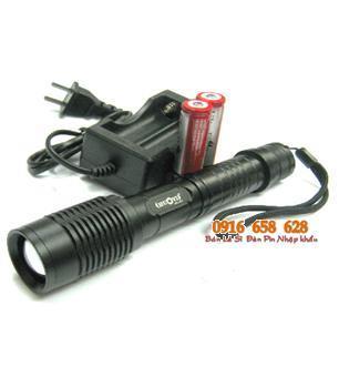 Đèn pin siêu sáng Huoyi HY-E7 (loại SD 2 pin18650) bóng CREE LED XML T6 thấu kính lồi | TẠM HẾT HÀNG