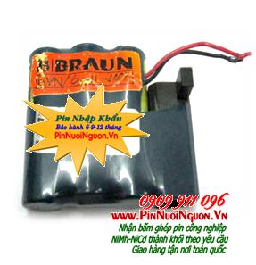 Pin BBRAUN 3/N600 AAK 3,6V 600mAh  Sanyo cadmium NiCd-NiMh chính hãng | Hàng có sẳn