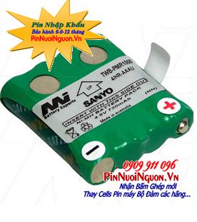 Pin máy bộ đàm 4,8V Sanyo 4HR-AAAU NiMh-NiCd chính hãng | hàng có sẳn