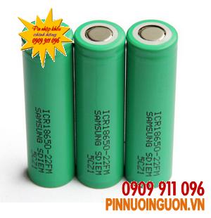 Pin đèn pin siêu sáng, Pin sạc Li-Ion 3,7V Samsung ICR18650-22FM-2200mAh chính hãng Samsung Made in Korea | Hết hàng