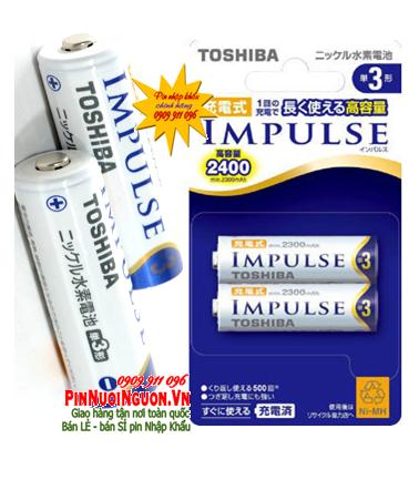 Pin sạc AA Toshiba Impulse TNH-3A/2P - 2500mAh - 1.2V/ pin xịn chữ Nhật chính hãng/TẠM HẾT HÀNG