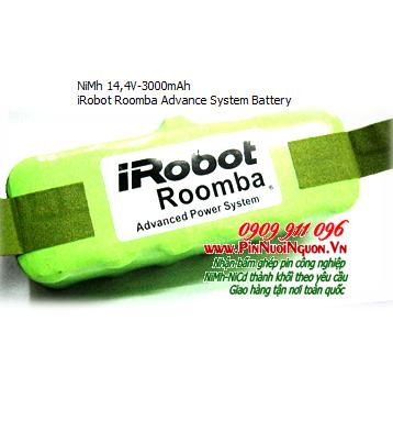 Pin máy hút bụi IRobot 14,4V-3000mAh NiMh/NiCd chính hãng | Hàng có sẳn-Bảo hành sử dụng 3 tháng