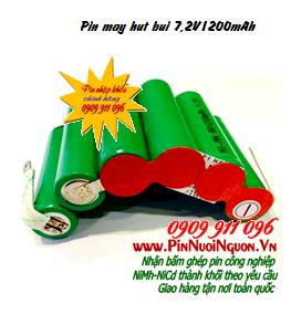 Pin máy hút bụi 7,2V1200mAh, Pin sạc NiMh-NiCd 7,2V1200mAh thay pin máy hút bụi các hãng | Đang có sẳn