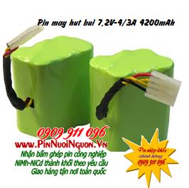 Pin máy hút bụi 7,2V-4/3A-4200mAh, Pin sạc NiMh-NiCd 7,2V-4/3A-4200mAh thay pin máy hút bụi các hãng | Đang có sẳn
