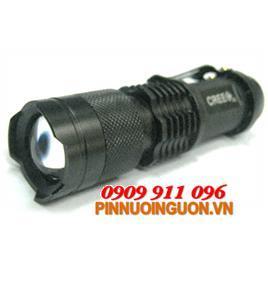 Đèn pin siêu sáng HB-68 thấu kính lồi bóng CREELED Q5 | Hàng có sẳn-Bảo hành 6 tháng