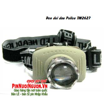 Đèn pin đội đầu Police TM2627 thấu kính lồi chiếu xa khoảng 150m | TẠM HẾT HÀNG