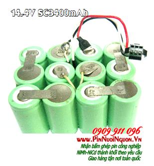 Pin máy hút bụi 14,4V-SC3400mAh, Pin sạc máy hút bụi 14,4V-3400mAh chính hãn,Thay cells ping | có hàng sẳn