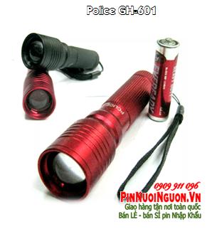 Đèn pin siêu sáng Police GH-601 bóng LED - Bảo hành  1 tháng