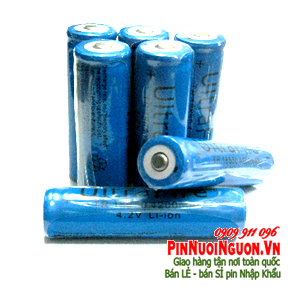 Pin sạc 4,2V Li-Ion Ultrafire TR18650-4200mAh Made in China chỉ sử dụng cho đèn pin siêu sáng | HẾT HÀNG