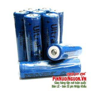 Pin đèn pin siêu sáng sạc 3,7V Li-Ion Ultrafire LC18650- 6800mAh Made in China chỉ sử dụng cho đèn pin siêu sáng| Hết hàng
