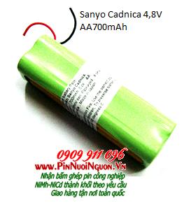 Pin sạc 4,8V Sanyo Cadnica AA700mAh NiCd chính hãng Cadnica | Có sẳn hàng