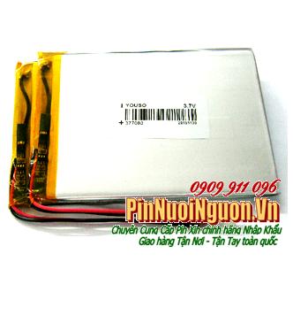 Pin sạc 3,7v Lithium Li-polymer 377090 (3.7mmx70mmx90mm) - 2330mAh, Pin máy tính bảng, Thay ruột pin máy tính bảng |TẠM HẾT HÀNG