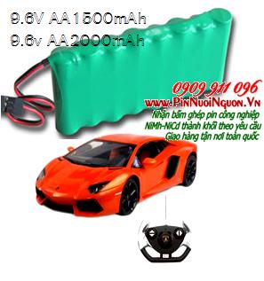 Pin sạc xe điều khiển từ xa 9.6V-AA1500mAh, Pin xe điều khiển 9.6V-AA1500mAh, Pin xe đồ chơi điều khiển 9.6V-AA1500mAh-Bảo hành 6 tháng