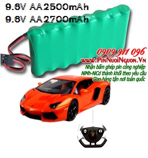 Pin xe điều khiển 9.6V AA2500mAh, Pin sạc xe đồ chơi điều khiển 9.6V AA2500mAh | có sẳn hàng