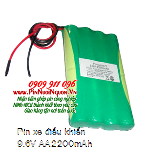 Pin sạc xe điều khiển 9.6V-AA2200mAh, Pin xe đồ chơi điều khiển từ xa 9.6V-AA2200mAh| Có sẳn hàng