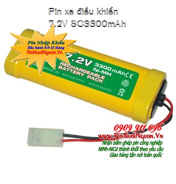 Pin xe điều khiển 7.2v-SC3300mAh, Pin sạc xe điều khiển 7.2v-SC3300mAh, Pin xe đồ chơi điều khiển 7.2v-SC3300mAh