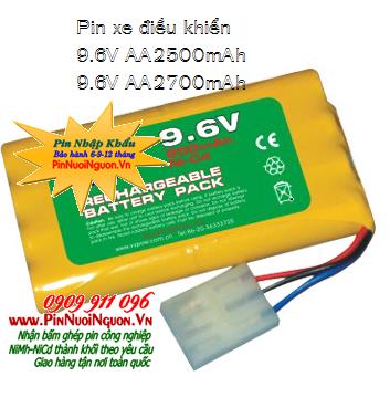 Pin sạc xe điều khiển từ xa 9.6v-AA2500mAh, Pin xe điều khiển 9.6v-AA2500mAh, Pin đồ chơi điều khiển 9.6v-AA2500mAh
