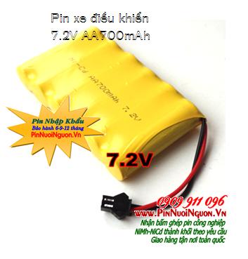 Pin sạc xe điều khiển từ xa 7.2V-AA700mAh, Pin xe điều khiển từ 7.2V-AA700mAh, Pin đồ chơi điều khiển 7.2V-AA700mAh