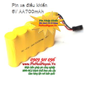 Pin xe điều khiển 6v-AA700mAh, Pin sạc xe điều khiển từ xa 6v-AA700mAh, Pin xe đồ chơi 6v-AA700mAh