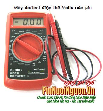 Máy đo/ test điện thế Volts của pin KT30B - Made in China-Bảo hành 1 tháng, dùng đo điện của pin các loại |có sẳn hàng