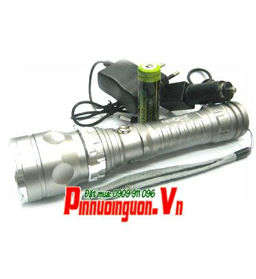 Đèn pin siêu sáng HuOYi  HY-8037 với bóng CREE LED và thấu kính lồi 180Lumens chiếu xa 200m | TẠM HẾT HÀNG