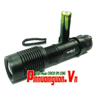 Đèn pin siêu sáng Huoyi HY-E7 (loại SD 1 pin) bóng CREE LED XML T6 thấu kính lồi | TẠM HẾT HÀNG